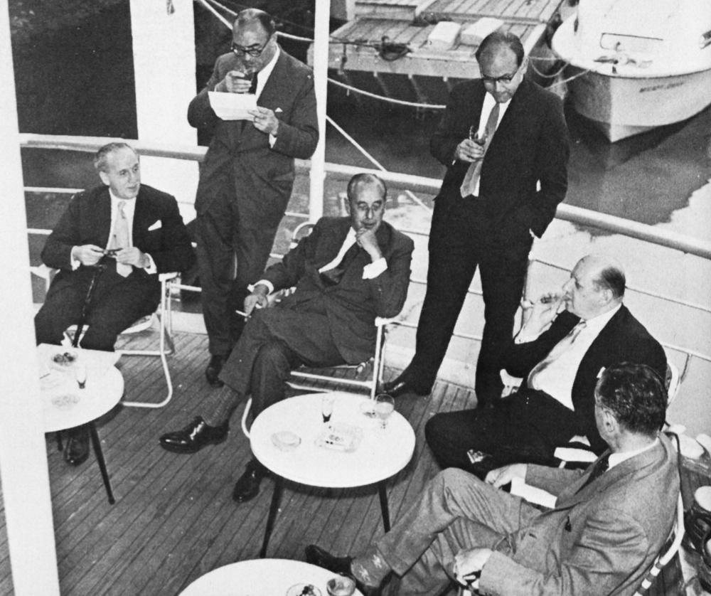 Cecil Bernstein (Granada), Howard Thomas (ABC), Tom Brownrigg (A-R), John McMillan (A-R), Lew Grade (ATV), Paul Adorian (A-R)