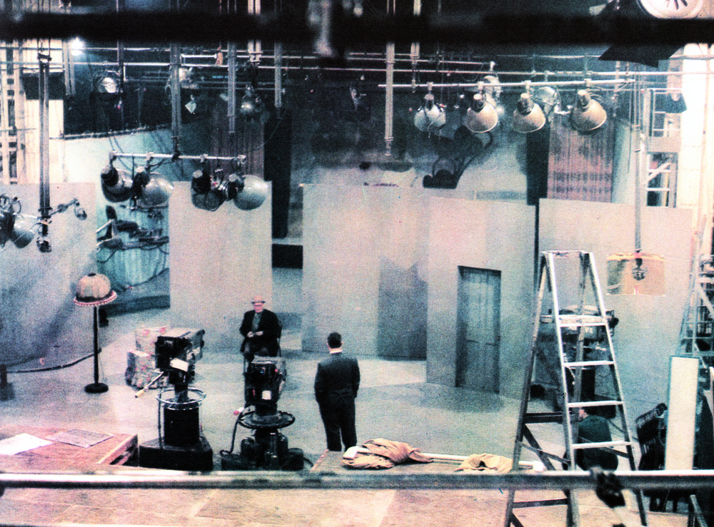A production gets set. Studio 1 at Manchester in early preparation for a recording of 'The Al Read Show'.