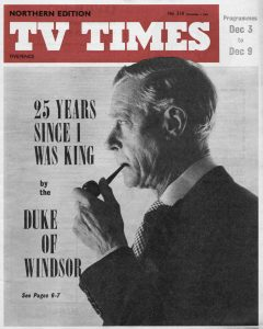 Article from the TVTimes for 3-9 December 1961
